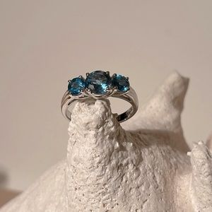 Marine blue Citrine ring